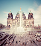 Berlin Cathedral Framed Prints - Berlin Cathedral (berliner Dom) In Germany Framed Print by Matthias Makarinus