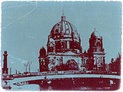 European Capital Digital Art Metal Prints - Berlin Cathedral Metal Print by Irina  March