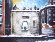 Berlin Germany Painting Posters - Berlin Gate No.2 Poster by James Sayer