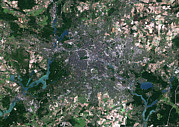 Space 1999 Framed Prints - Berlin, Germany, Satellite Image Framed Print by Planetobserver