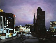 Kudamm Paintings - Berlin Nocturne by Michael John Cavanagh