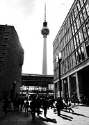 Black And White Photography Pyrography Metal Prints - Berlin street photography Metal Print by Falko Follert