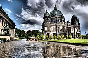 Berlin Digital Art Posters - Berliner Dom Poster by Wayne Higgs