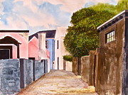 St George Painting Framed Prints - Bermuda Alley Framed Print by Frank SantAgata