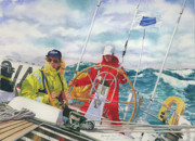 Sailboats Paintings - Bermuda Race Competitors by Marguerite Chadwick-Juner