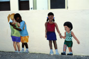 Handicapped Paintings - Bermuda School Mural by Carl Purcell