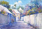 WW Harvey - Bermuda Street Scene...