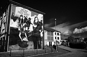 Irish Artists Prints - Bernadette At The Battle Of The Bogside Mural Derry Print by Joe Fox