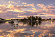 Maine Prints - Bernard Harbor at Sunset Print by Cynthia Farr-Weinfeld