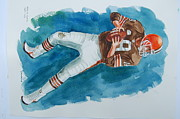 Quarterback Paintings - Bernie Kozar  by Bill Dinkins
