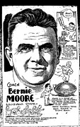 Sports Memorabilia Posters - Bernie Moore Poster by Steve Bishop