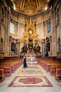 Vatican Posters - Bernini Masterpiece Poster by Joan Carroll