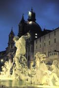 Dell Photo Acrylic Prints - Berninis Fontana Del Moro, C.1650 Acrylic Print by Richard Nowitz