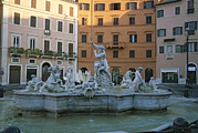 Apartment Houses Prints - Berninis Fountain Of The Four Rivers Print by Taylor S. Kennedy