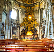 Bernini Photos - Berninis Throne of St Peter by Jon Berghoff