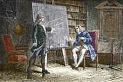 Debating Prints - Bernoulli Brothers, Swiss Mathematicians Print by Sheila Terry