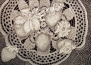 Life Drawing Photo Originals - Berries And Lace by Jennifer Kirton