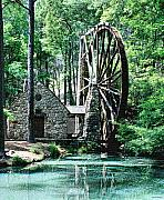 Berry' Old Mill In Pencil Print by Johann Todesengel