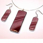 Fused Glass Jewelry - Berry Swirl from the Itza Collection by Kelly DuPrat
