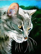 Whiskers Pastels Metal Prints - Bert Metal Print by Deborah Carroll