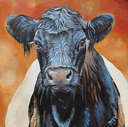 Belted Prints - Bertha Beltie Print by Laura Carey