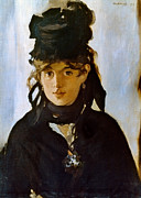 Berthe Photos - Berthe Morisot (1841-1895) by Granger