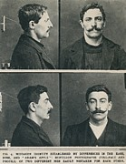 Facial Prints - Bertillon System Photographs Taken Print by Everett
