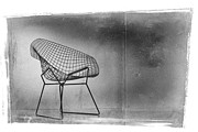 Chair Framed Prints - Bertoia Diamond Chair Framed Print by David Ridley