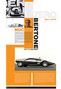 Designer Framed Prints - Bertone Poster Framed Print by Irina  March