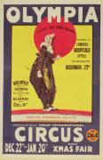 Clown Paintings - Bertram Mills circus poster by Dudley Hardy