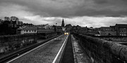 Berwick Posters - Berwick Old Bridge mono Poster by Rob Hawkins