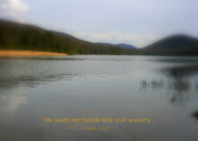 Scriptures Posters - Beside Still Waters Poster by Debra Straub