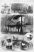 Mechanization Framed Prints - Bessemer Steel Manufacture. Six Framed Print by Everett