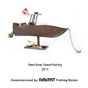 Benjamin Bullins Art - Best Boat SpearFishing by Benjamin Bullins