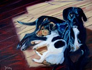 Buddies Paintings - Best Buddies by Donna Tuten