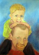 Father Pastels - Best Buddies by Loretta Luglio