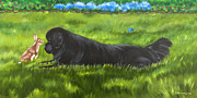 Back Yard Paintings - Best Buddies by Sharon Nummer