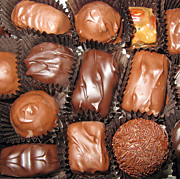 Tasteful Art Photo Prints - Best Collection of Chocolate Sweets Square 01 Print by Ausra Paulauskaite