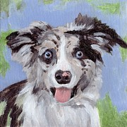 Collie Painting Framed Prints - Best Friend Framed Print by Kazumi Whitemoon