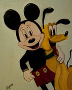Disney Mixed Media - Best Friend by Mary DeLawder