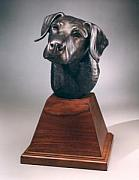 Black Lab Sculptures - Best Friend by Mary Driscoll
