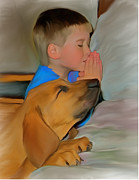 Prayer Digital Art Posters - Best Friend Prayers Poster by Susan Blanton