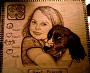 Companion Pyrography - Best Friends by Mark Padgett