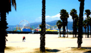 Santa Monica Digital Art Metal Prints - Best Friends Metal Print by Ronnie Caplan