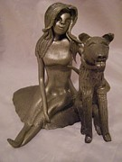 Puppy Ceramics - Best Friends by Sandi Floyd