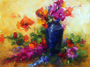 Gladiola Paintings - Best Friends by Talya Johnson