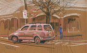 Artwork Pastels - Best Parking Spot by Donald Maier