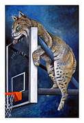 Basketball Paintings - Best Seat in the House by Jeff Conway