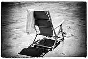 Beach Towel Photo Prints - Best Seat Print by John Rizzuto