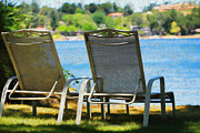 Lake House Metal Prints - Best seats on the Island Metal Print by Cheryl Young